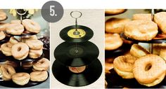 Bubby and Bean ::: Living Creatively: DIY Tutorial >>> Vintage Vinyl Record Dessert Stand  Really cool idea