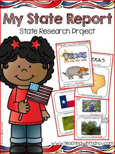 $ U.S. State Research Project   Everything you need to complete a U.S. State report research project. Includes as kid friendly website created exclusively to go along with this research project.