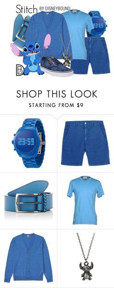 """Stitch"" by leslieakay ❤ liked on Polyvore featuring Massimo Alba, Barneys New York, M.GRIFONI DENIM, Uniqlo, Episode, Disney, Vans, men's fashion, menswear and disney"
