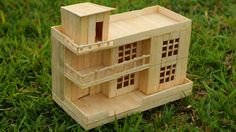 How to Make a Modern Popsicle sticks House Very Easy