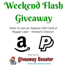 $50 Flash #Giveaway - ENTER DAILY! #Win $50 #Amazon Gift Code or $50 #PayPal #Cash (Worldwide, Ends Sun 9/4)