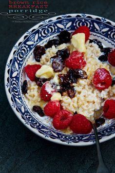 Brown Rice Breakfast Porridge | FamilyFreshCooking.com