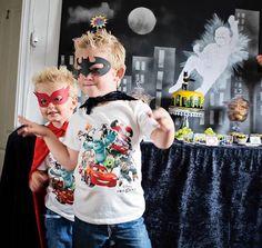 Superhero themed birthday party via Kara's Party Ideas : Superheroes masks