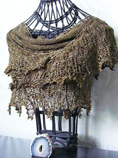 This cute little shawl is perfect to wrap around your neck and shoulders. In cotton it provides a wonderful summer shawl for keeping the sun off those delicate shoulders or keeping the chill night air at bay; in silk it becomes something elegant and worthy of accompanying you to functions and formal events, yet in wool it will keep even the winter cold out! Just a nice length Cloud Illusions will cover your back and wrap around and can be worn in many different ways. It is so much more than…