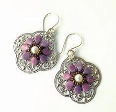 nice DIY Bijoux - Pip Beaded Flowers on Filigree Earrings Tutorial