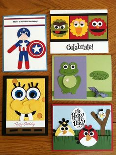 Stampin' Up! Kids All New Mixed Card Kit (very fun stuff and ideas... must see more here!)