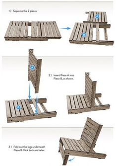 Grey Wood Lazy Chair Pallet Patio Furniture Awesome Outdoor DIY Pallet Patio Furniture Ideas Interior Design, Furniture, Home Accessories, Outdoor homemade pallet patio furniture. cushions for pallet patio furniture. Pallet Crafts, Pallet Projects, Home Projects, Diy Pallet, Pallet Patio, Deck Patio, Pallet Ideas, Pallet Lounge, Pallet Seating