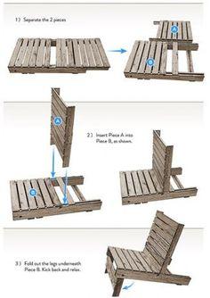 Leuk om zelf te maken | Mooie loungebank van pallets met bokwielen. Door Sanneman22