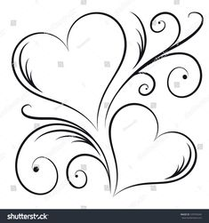 Two hearts swirl elements stock vector (royalty free) 570794344 - two hearts . - Two Hearts Swirl Elements Stock Vector (Royalty Free) 570794344 – Two Hearts With Swirl Elements - Pencil Art Drawings, Art Drawings Sketches, Heart Drawings, Embroidery Patterns, Hand Embroidery, Machine Embroidery, Heart Coloring Pages, Heart Tattoo Designs, Two Hearts