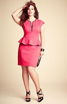 A.B.S. by Allen Schwartz Peplum Dress. Plus size fashion. Yes, it's #plussize!!