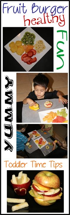 Fruit Burger!  Daily projects posted on Facebook Toddler Time Tips @ https://www.facebook.com/toddlertimetips