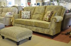 Living : FARNHAM 3 Seater Sofa and Footstool
