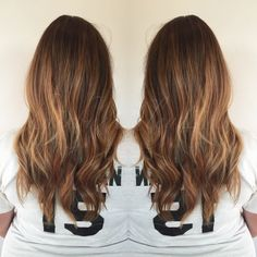 Bronde sombrè : colored the regrowth with Redken color fusion 6T + 20 volume. Baby lighted over top of root color while it processed. Babylights done with wella blondor + 40 volume and olaplex. Process 40 minutes and then toned zone 1 with 07NB/6G , and mids and ends with 9V/9T (all done with shades eq). Toner left on for approx. 15 minutes.