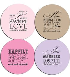 Custom Wedding Stickers Sweet Sanity On Etsy