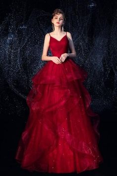 Two Piece Evening Dresses, Burgundy Evening Dress, Formal Evening Dresses, Senior Prom Dresses, High Low Prom Dresses, Wedding Party Dresses, Dress Prom, Red Wedding, Tulle Lace