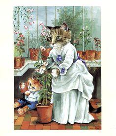 Victorian Cats Susan Herbert Antique / by HeatherwoodArtPrints