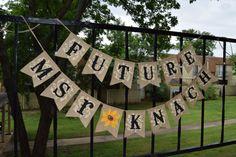Bridal shower banner Future Mrs Burlap Banner Customize your name Burlap Shower Sign