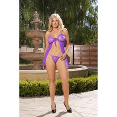 fce680cc72e42 Babydoll with Matching G-String  19.85 (Elegant Moments Online Lingerie