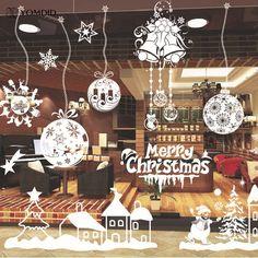 Christmas Window Decoration Santa Claus/deer/snowflakes/snowman Christmas Pringting Draw Ner Year Enfeites de natal - Alternative Measures