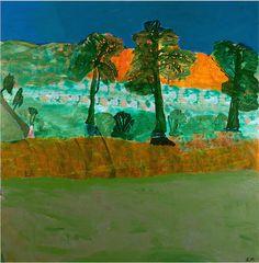 TREES IN ART • L'ARBRE DANS L'ART | Idris Murphy (Austr. born 1959),Still Evening...
