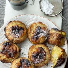 Portuguese tarts from Dr Arruda Portuguese Tarts, Beignets, Sweet Recipes, Muffins, Deserts, Food And Drink, Keto, Sweets, Lunch