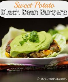 Sweet Potato Black Bean Burgers: Use up extra sweet potatoes in this delicious, healthy, vegan & gluten-free veggie burger!
