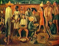 Bahia. 1939. Óleo sobre tela. Hector Julio Páride Bernabó (Carybé), (Lanús, província de Buenos Aires, Argentina, 07/02/1911 — Salvador, Bahia, Brasil, 02/10/1997).
