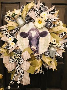 Excited to share this item from my shop: Farmhouse Wreath, Cow Wreath , Front Door Decor, Deco Mesh Wreaths, … Christmas Mesh Wreaths, Holiday Wreaths, Winter Wreaths, Summer Wreath, Spring Wreaths, Deco Mesh Wreaths, Burlap Wreaths, Country Wreaths, Floral Wreaths