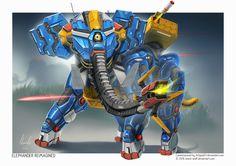 ArtStation - Commission: Elephander Reimagined, Kevin Koesnodihardjo