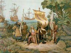 Cristóbal Colón (Christopher Columbus) claims the New World. On 27 October 1492 Columbus sighted Cuba, he named the island Juana Cuba History, World History, History Facts, Panama History, Spain History, History Jokes, Study History, San Salvador, Modern History