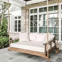 Sunday Scroll Front Porch and Decor Inspiration The Isle Home - Sunday Scroll. Front porch design and decor inspiration. Curb appeal, color selection and front porch decorations. Porche Frontal, Traditional Porch, Front Porch Design, Front Porches, Porch Designs, Porch Roof, Patio Design, Building A Porch, Building Homes