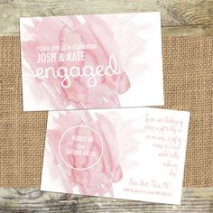 Watercolor wedding stationery. Engagement party invitations & more. tess.creations.design@gmail.com