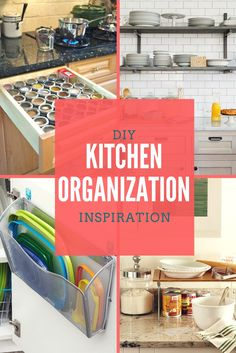 Clutter is nothing more than postponed decisions. Let all this Kitchen Organization Inspiration help you move to getting the organized kitchen you want!