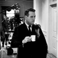 "10 curtidas, 1 comentários - Ani & Will (@californiateahouse) no Instagram: ""Paul Newman having a cuppa on set. #Tea #TeaCulture #PaulNewman #LoveTea"""