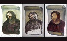 "Folha de S.Paulo - Ilustrada - ""O padre sabia"", diz idosa que desfigurou Jesus em pintura - 22/08/2012"