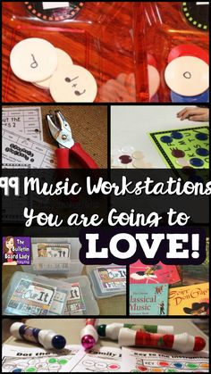 99 Music Workstations You are Going to Love A HUGE list of Music Workstations for the elementary music classroom. You are going to love these center ideas for pitch, rhythm, singing, composing, playing instruments and more. Music Education Games, Music Activities, Teaching Music, Music Games, Physical Education, Movement Activities, Health Education, Kids Music, Education Quotes