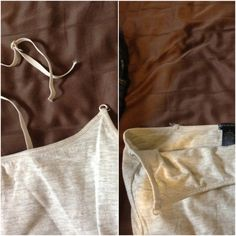 change cami into nursing wear + bottom video re: belly band to hold pants up/comfort