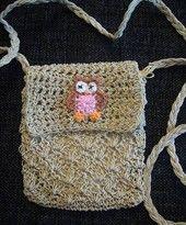 Virkattu pöllölaukku: Ruskea/v.punainen pöllö | Arkkikauppa