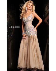 Sherri Hill Prom Dresses 2014 | Home > 2014 Sherri Hill 2972 Prom Dresses Nude