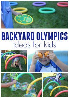 simple and easy backyard Olympics ideas