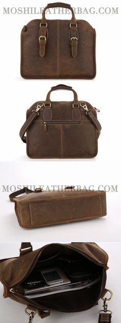 91d5deaf10c2 Handcrafted Antique Leather Laptop Briefcase Mens Messenger Shoulder Bag  3857