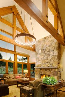 Great Room - rustic - living room - sacramento - by Ward-Young Architecture & Planning - Truckee, CA