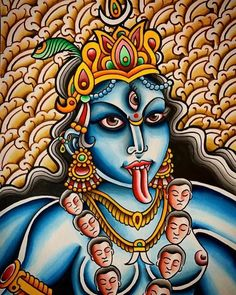 Kali Ma, Kali Goddess, Hindu Deities, Angels And Demons, Hindu Art, Lord Shiva, Durga, Goddesses, Mythology