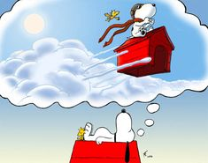 Alf img - Showing > Snoopy Dreaming