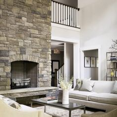 stone fireplace, for the kitchen :-)