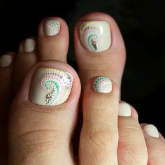 Beautiful Nail Designs 2018 for Toes - Nails Ideas & Nails Diy Beach Nail Designs, Toe Designs, Pedicure Designs, Pedicure Nail Art, Diy Nail Designs, Toe Nail Art, Manicure, Pedicure Ideas, Pretty Toe Nails