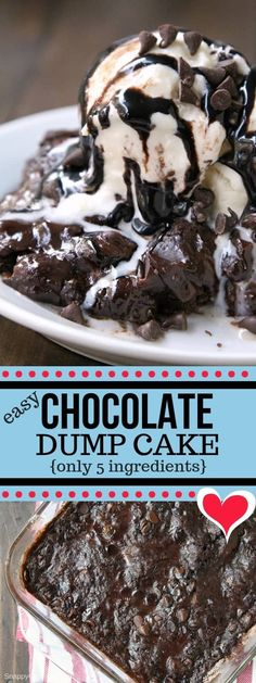 Dump Cake, how to make a dump cake with a chocolate cake mix. This easy dump cake recipe only has 5 ingredients. The best!Chocolate Dump Cake, how to make a dump cake with a chocolate cake mix. This easy dump cake recipe only has 5 ingredients. The best! Chocolate Cake Mix Recipes, Chocolate Cobbler, Cake Mix Desserts, Best Chocolate Desserts, Dump Cake Recipes, Cake Chocolate, Frosting Recipes, Chocolate Cake Crockpot, Easy Homemade Cake Recipes
