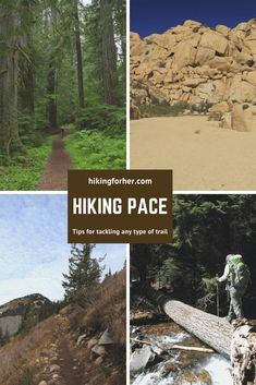 Your hiking pace varies for each hike and even for each hour on a hike. Hiking For Her shares tips Backpacking Tips, Hiking Tips, Camping Gear, Safety And First Aid, Visual Map, Trail Signs, Hiking Training, Winter Hiking, Happy Trails