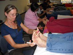 Foot Reflexology Workshop  #Foot Reflexology fun learning in class  #Reflexology Certificate Class