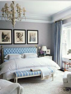 A Bachelorette's Abode, feminine bedroom interior design and decor